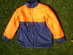 Original Husqvarna chainsaw protective jacket Class 1. Hi Viz Size Large 54/56