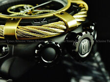 Invicta Reserve 56mm Gold&Black JT Thunderbolt Limited Ed Swiss Chrono SS Watch