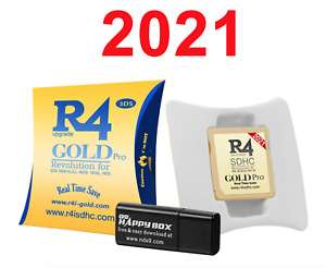 2021 R4 Gold Pro SDHC for DS/3DS/2DS/ Revolution Cartridge With USB Adapter Neu