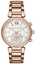 Michael Kors MK6282 Sawyer White Dial Rose Gold Stainless Steel Women's Watch