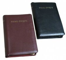 Biblia Warszawska (duża) z wycięciami, skórzana okładka,kolor czarny, nowa