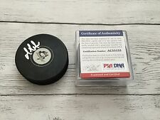 Mario Lemieux Signed Pittsburgh Penguins Hockey Puck PSA/DNA COA Autographed b