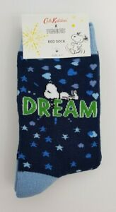 Cath Kidston Snoopy Dream Midnight  Bed Sock True Navy Colour New with Tag