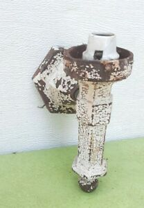 Victorian cast iron outdoor lantern sconce wall porch  outside light gothic