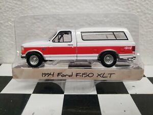 1994 1/64 Ford f150 XLT 4x4 Truck Greenlight farm hitch tow dcp ertl blue collar