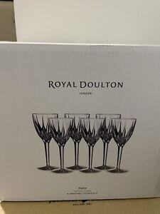 Royal Doulton Flame Crystal Wine Glasses