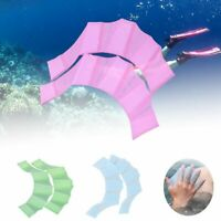 Silicone Swimming Flippers Hand Fins Swim Web Training Glove Gear Paddle