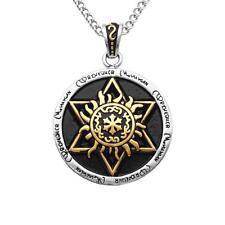 Gold Hexagram Magen Star of David Pendant Men Women Necklace Free Chain