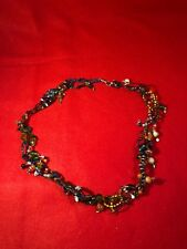Multi Beaded Colored Chain Necklace