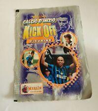 pacchetto figurine MERLIN KICK OFF calcio di inizio 97/98 rara