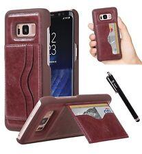 Galaxy S8 Case Style4U Slim Fit Premium Durable Faux Leather Wallet Ca