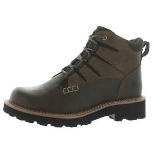 Ariat Womens Canyon II Brown Leather Work Boots Shoes 8.5 Medium (B,M) BHFO 6830