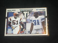 TAKEO SPIKES ROY WILLIAMS GENUINE PACK PULLED AUTHENTIC FOOTBALL INSERT CARD/275