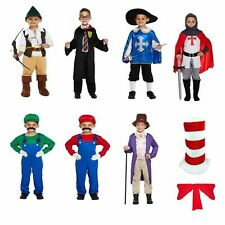 Boys Girls Fancy Dress Dressing Up Outfits Costumes Various Book Day 4-12 Years