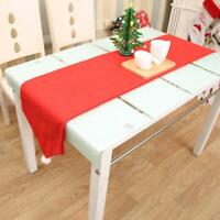 1Pc Christmas Non-woven Red Table Flags Tablecloths Table Party Decoration