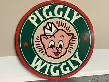 Piggly Wiggly Grocery Store vintage Style round sign