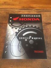 2007-2009 Honda TRX300EX Motorcycle Oem Service Repair Manual 61HM360 Nos