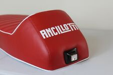 VESPA SEAT SLOPE BACK WITH ANCILLOTTI LOGO RED & WHITE