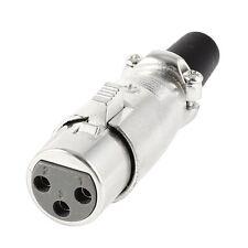 XLR 3-Pin Buchse Adapter Kabel Buchse 6.5 mm Audio Mikrofon Kabel Silber U4E0