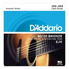 D'Addario EJ11 80/20 Bronze Light Acoustic Guitar Strings Set