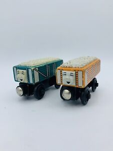 **SLIGHTLY ROUGH Thomas & Friends Wooden Railway Orange & Blue Rickety 2003