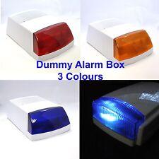 Dummy Alarm Box BLUE/Orange/RED Flashing LED Lens Weatherproof long lasting