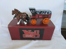 Ertl Collectible Horse & Wagon Die-Cast Vehihicle WEIL Boilers & Garage Burners