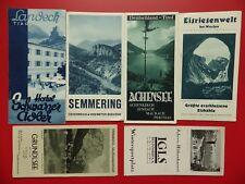 6 x altes Reiseprospekt ÖSTERREICH Semmering Tirol Igls um 1935 ( F 17317