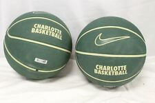 Lot of 2, University of Charlotte North Carolina Green Basketballs Size: 7.