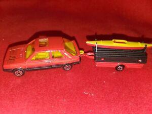 Majorette #275 Renault 1:54 Diecast Toy Car Trailer France Matchbox Vintage Boat