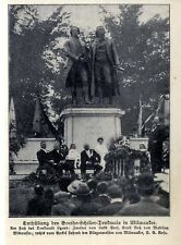 Révélation du Goethe-Schiller-Monument à Milwaukee V. maire Rose c.1908