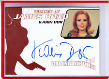 2002 WOMEN OF JAMES BOND KARIN DOR AS HELGA BRANDT WA 4 AUTOGRAPH AUTO