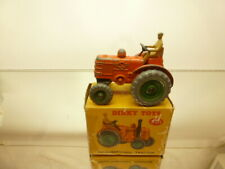 DINKY TOYS 301 FIELD MARSHALL TRACTOR - ORANGE - GOOD CONDITION IN BOX