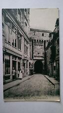 Le Mont Saint Michel France Vintage B&W Postcard  c1900s Hotel Poulard
