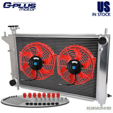 Aluminum Racing Radiator For 94-95 FORD MUSTANG GT/GTS/SVT 5.0 3.8L+ 2* 10'' Fan
