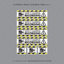 Cámara de video 7 X Pegatinas de grabación Wifi Cámara en Tablero CCTV en Coche Adhesivo-SKU4073