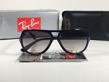 47812ef69d Ray-Ban Turbo Aviator Sunglasses Navy Blue Nylon Frame Gray Gradient Lens  RB4162