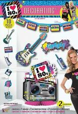 Totally 80's Decor Retro Decades Awesome Theme Party Wall Room Decorating Kit