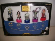 THE NIGHTMARE BEFORE CHRISTMAS, FIGURINE STAMPER SET,10 ANNIVERSARY, COLLECTIBLE
