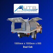 Toyota Hilux Dual Cab Checker Plate Canopy 1800L x 1800W x 860H