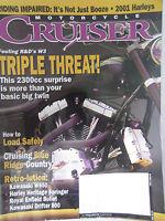 Motorcycle Cruiser Magazine October 2000 Triple Threat Riding Impaired Harleys