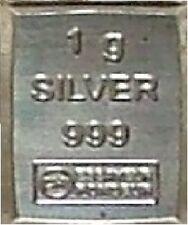 Lingot de 1 gramme d' argent pur 999 / 1000 **L@@K**