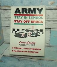 ARMY LARRY CAUDILL DIE CAST COLLECTOR PACK STAY OFF DRUGS #661 OF 1000 AUTOGRAPH