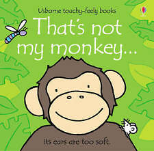 Baby / Toddler Touchy Feely Book - THAT'S NOT MY MONKEY by Fiona Watt - NEW