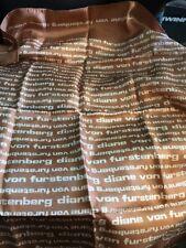 """Diane Von Furstenberg Scarf 27"""" Silk Brown"""