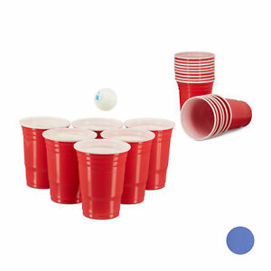 50 x Beer Pong Getränkebecher Plastik Trinkbecher Partybecher Bierbecher rot