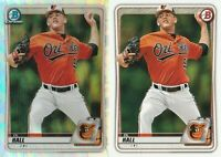 2020 Bowman Draft DL Hall Chrome Refractor & Base  Baltimore Orioles