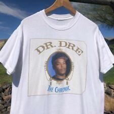 VTG Y2K White Death Row 2005 Dr Dre The Chronic Snoop Dogg Rap Music T Shirt M