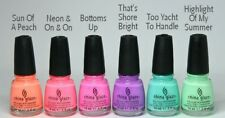 China Glaze Nail Polish 0.5 oz Summer HOT COLORS