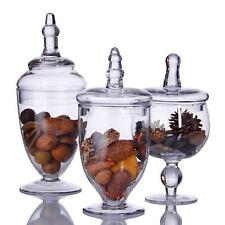 Terra Home Essentials Collection Set of Three Assorted Mini Glass Cannisters